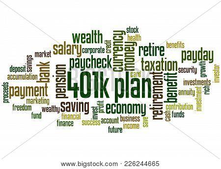 401K Plan Word Cloud Concept