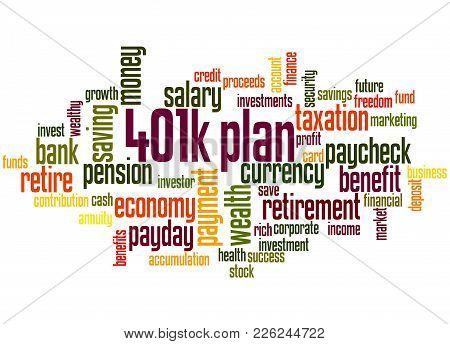 401K Plan Word Cloud Concept 2