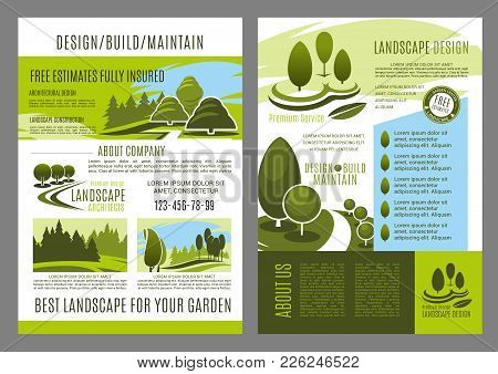 Landscape Design Brochure Template For Landscaping Build And Maintain Service Or Eco Environment Com
