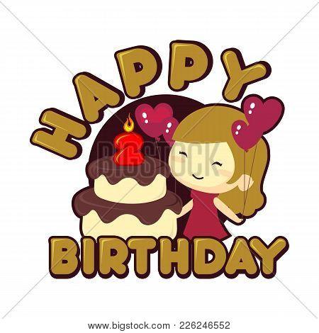 Happy 2st Birthday Vector Photo Free Trial Bigstock