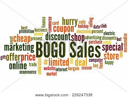 Bogo Sales Word Cloud Concept 2