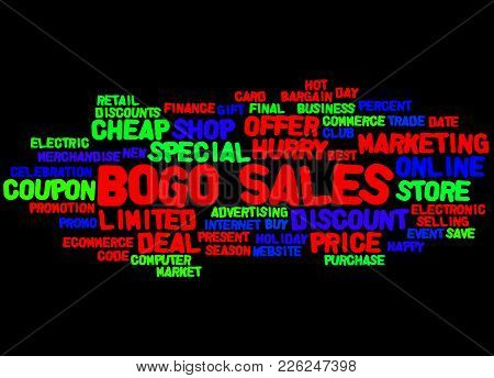 Bogo Sales Word Cloud Concept 4