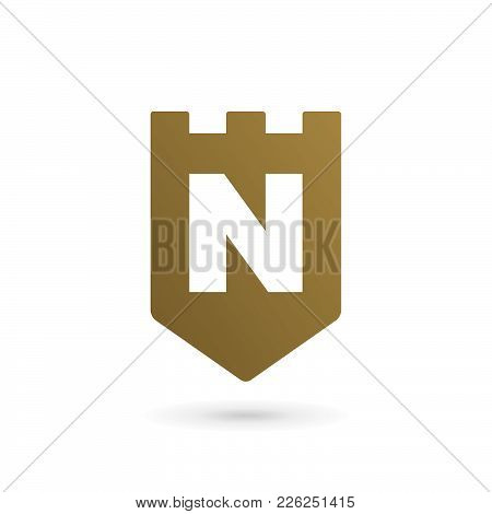 Letter N Shield Logo Icon Design Template Elements
