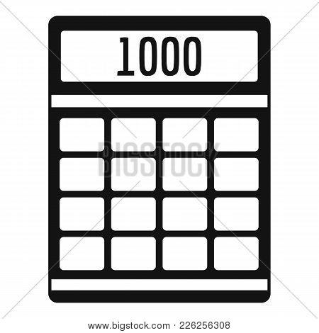 Tax Calculator Icon. Simple Illustration Of Tax Calculator Vector Icon For Web