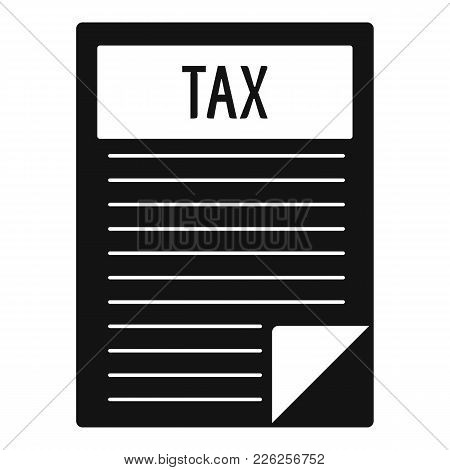 Tax Sheet Icon. Simple Illustration Of Tax Sheet Vector Icon For Web