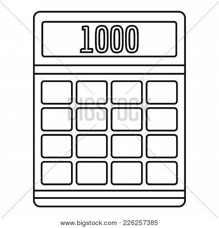 Tax Calculator Icon. Outline Illustration Of Tax Calculator Vector Icon For Web