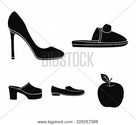 Homemade Slippers With A Pampon, High-heeled Women's Shoes, Low-heeled Shoes, Clogs, Slippers On A H