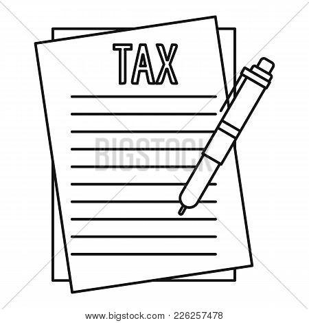 Income Declaration Icon. Outline Illustration Of Income Declaration Vector Icon For Web