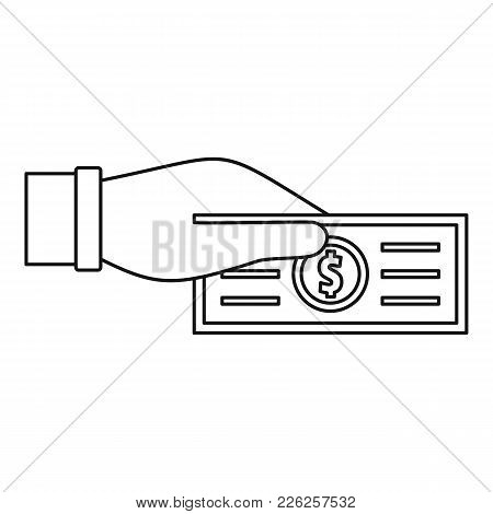 Take Tax Icon. Outline Illustration Of Take Tax Vector Icon For Web