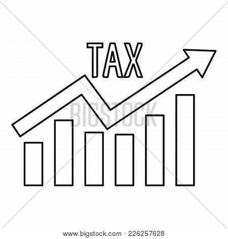 High Tax Icon. Outline Illustration Of High Tax Vector Icon For Web