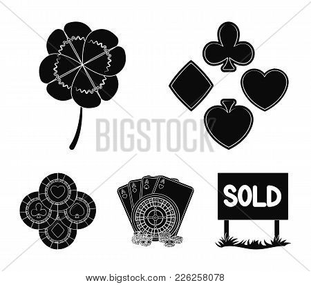 Excitement, Casino, Game And Other  Icon In Black Style. Cheating, Entertainment, Recreation, Icons