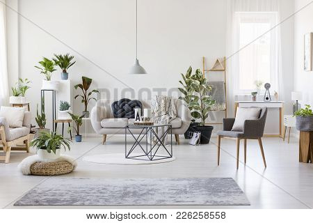 Spacious Floral Living Room