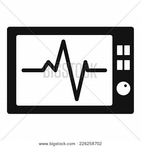 Ekg Icon. Simple Illustration Of Ekg Vector Icon For Web