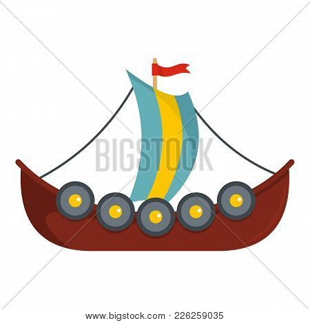 Frigate Icon. Flat Illustration Of Frigate Vector Icon For Web