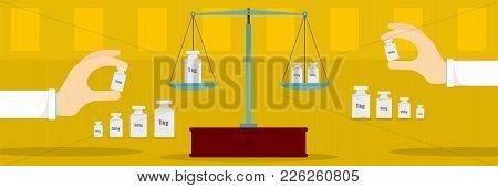 Equal Calibration Banner. Flat Illustration Of Equal Calibration Vector Banner For Web
