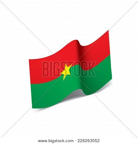 Burkina Faso Flag, Vector Illustration On A White Background