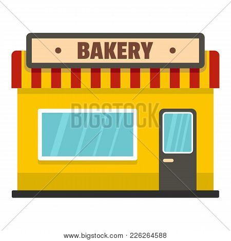 Bakery Shop Icon. Flat Illustration Of Bakery Shop Vector Icon For Web