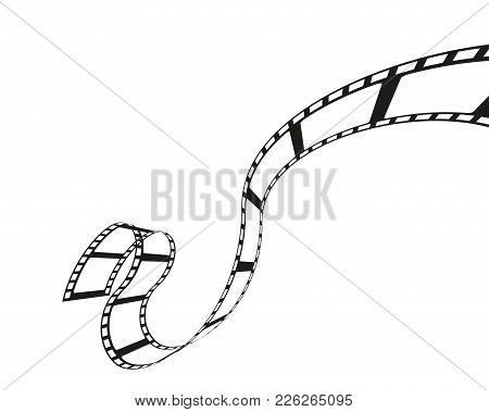 Filmstrip Roll Isolated On The White Background. Vector Illustration. Cinema Object Or Movie Element