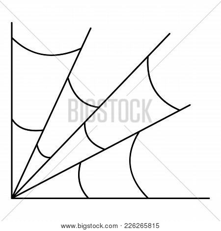 Danger Spiderweb Icon. Outline Illustration Of Danger Spiderweb Vector Icon For Web
