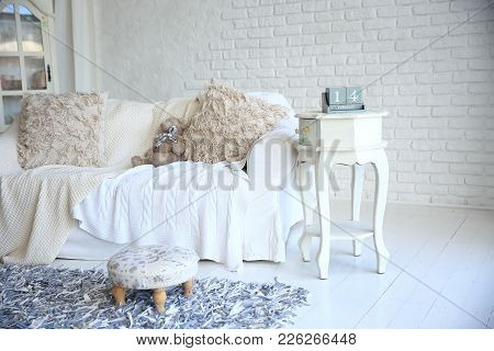 Table Calendar With The Date February 14 On The Bedside Table In A Stylish Living Room.photo With Co