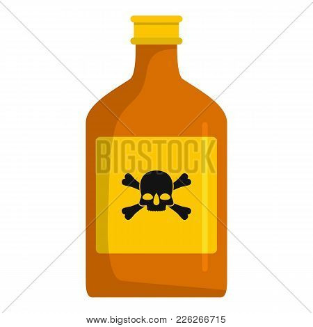 Toxin Bottle Icon. Cartoon Illustration Of Toxin Bottle Vector Icon For Web