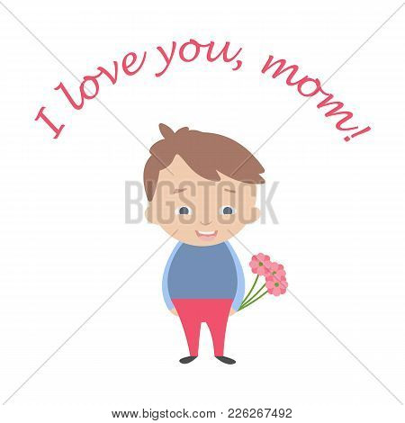Happy Mother's Day Card In Flat Style