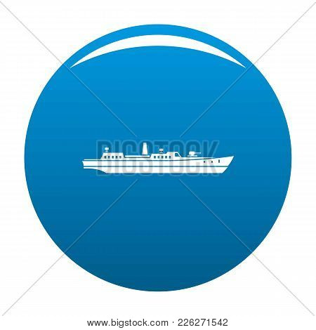 Ship Combat Icon Vector Blue Circle Isolated On White Background