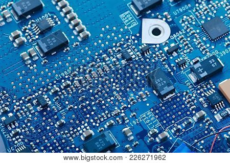 Circuit board with electronic components