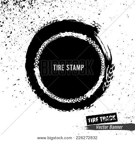 Grunge Off-road Post And Quality Stamp. Automotive Element In Black Colour Useful For Banner, Sign,
