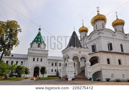 Architecture Of The Holy Trinity Ipatievsky Monastery. Built In 1330. Here The First Tsar Of The Rom