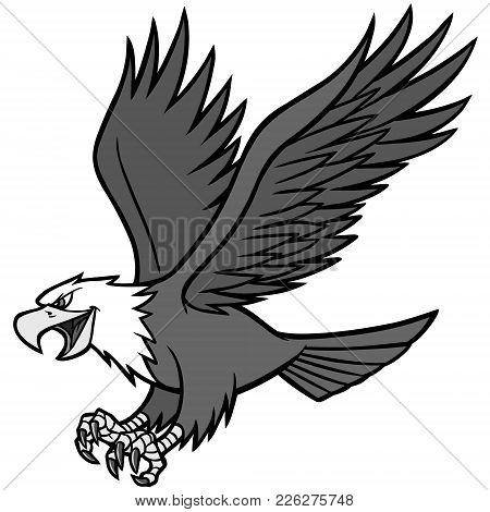 Eagle Mascot Illustration - A Vector Cartoon Illustration Of A Eagle Mascot.