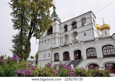 Bell Tower, Belfry In Ipatievsky Monastery In Kostroma. Golden Ring, Russia.