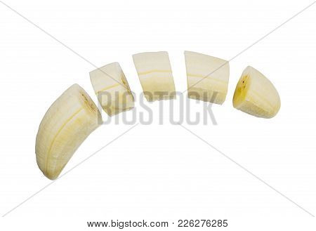 Tropical Fruit, Sliced On Isolated On White Background, File Contains A Clipping Path.