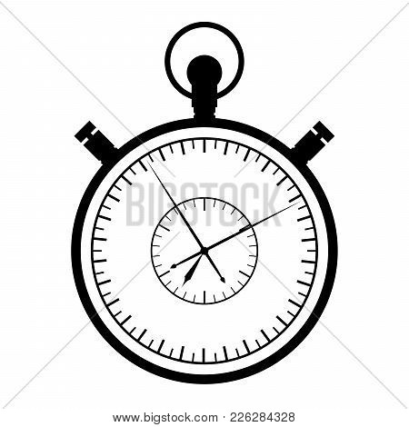 Stopwatch On A White Background. Vector Illustration