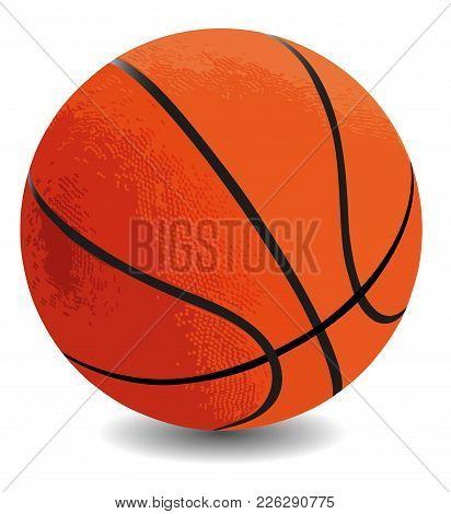 Orange Basketball Ball On A White Background