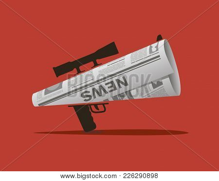The Newspaper In The Form Of A Horn With A Sniper Scope: Information Can Be Dangerous
