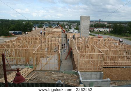 Wood Framing Under Contruction