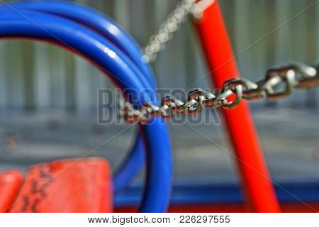 Part Of The Children`s Swing Connected Chain