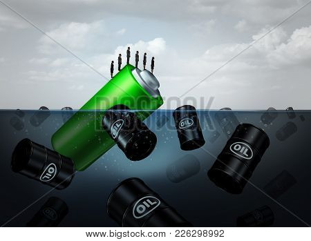 Electric Energy Concept As A Symbol For Sustainable Power Or Alternative Fuel Sustainability As A Gr