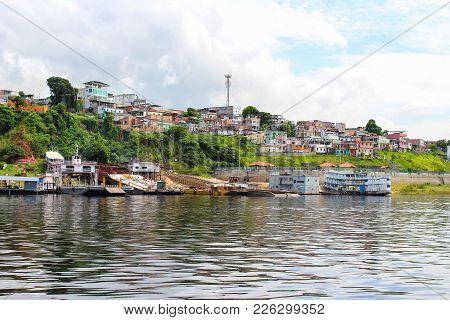 Neighborhood In Manaus, Amazona, Brazil