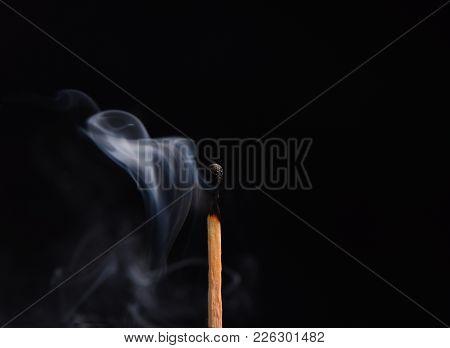 Smoke From A Burnt Match, Like A Veil. Macro