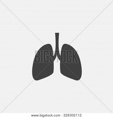 Lungs Icon Vector Illustration. Organ Icon Vector