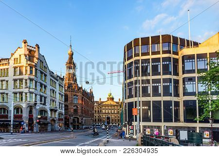 Amsterdam, The Netherlands - June 10, 2014: Beautiful Sreets Of Amsterdam On Summer Day. Amsterdam I