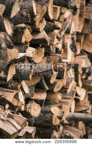 Firewood Stack, Firewood Background, Pile Of Logs, Warm Firewood