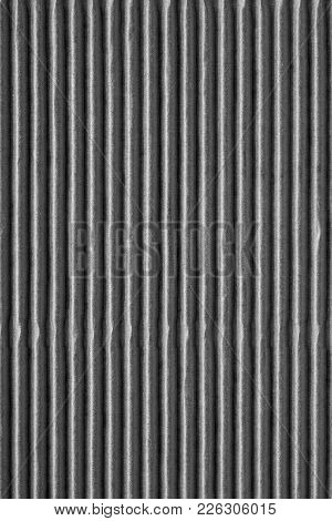 Wavy Corrugated Texture Of A Cardboard Or Paper Of Gray Silvery Color For A Background Or For Wallpa