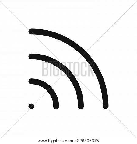 Wifi Symbol. Wireless Internet Connection Or Hotspot Sign. Outline Modern Design Element. Simple Bla