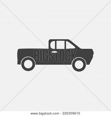 Pick Up Icon Vector Illustration. Car Icon Vector