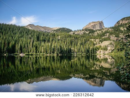 Bear Lake In Estes Park Colorado At Rocky Mountain National Park