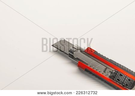 Tool Set Of Various Instruments For House Renovation And Hand Work On White Background. Set Of Hand