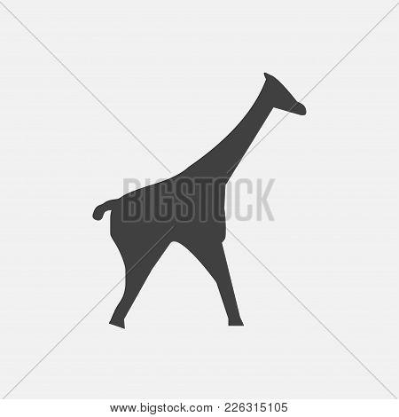 Giraffe Icon Vector Illustration. Animal Icon Vector